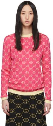 Gucci Pink GG Jacquard Sweater