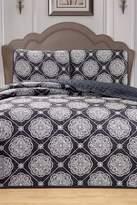 Kensie Kennelly 3-Piece Bedspread Set - Black