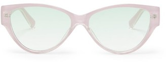 Le Specs Eureka Cat-eye Acetate Sunglasses - Womens - Light Pink