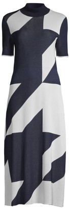 HUGO BOSS Fiah Geometric Dress