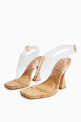 Topshop REEF Natural Cork Flare Heels