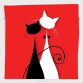 Vipsung Microfiber Ultra Soft Hand Towel-Red And Black By March Spring Season Lover Cats In Wedding Gowns With Swirl Tails Image Scarlet And White For Hotel Spa Beach Pool Bath