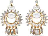 Thumbnail for your product : Elizabeth Cole Simcha 24-karat Gold-plated, Faux Pearl And Swarovski Crystal Earrings