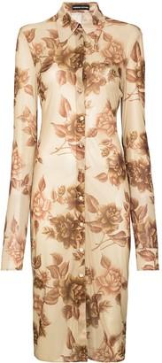 Kwaidan Editions Floral Print Shirt Dress