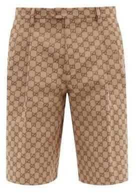 Gucci Gg Canvas Shorts - Mens - Beige