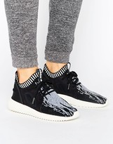 adidas Black Print Primeknit Tubular Sneakers