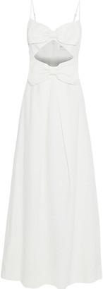 Zimmermann Corsage Bow Cutout Linen Maxi Dress
