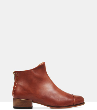 Beau Coops - Women's Brown Heeled Boots - Beau5 Leather Ankle Boots - Size One Size, 36 at The Iconic