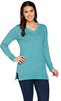 As Is Denim & Co. V-Neck Long Sleeve Sweater Tunic
