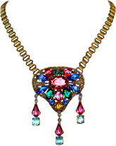One Kings Lane Vintage Book-Chain & Jeweled Pendant Necklace