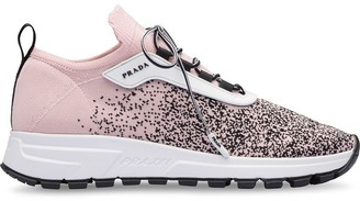 Prada Sock Lace-Up Sneakers