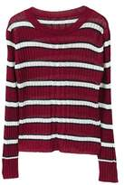 MANGO Striped rib sweater