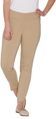 Martha Stewart Petite Stretch Twill Pull-On Ankle Pants