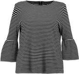 Jette Joop STRIPES FLUTE SLEEVE Long sleeved top black offwhite