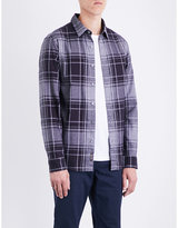 Michael Kors Wess Checked Classic-fit Cotton Shirt