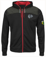 Majestic Chicago Blackhawks NHL Men's Hashmarks Full Zip Hooded Jacket