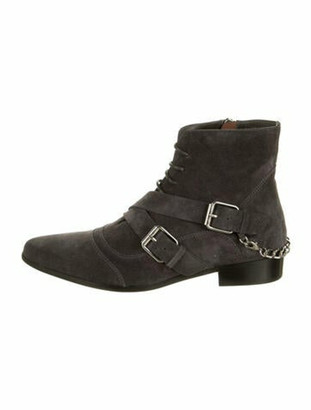 Tabitha Simmons Suede Boots Grey