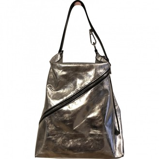 Proenza Schouler Zip Hobo Silver Leather Handbags
