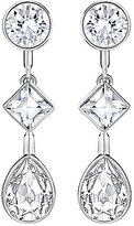Swarovski Folk Geometric Crystal Teardrop Linear Earrings