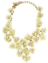 Oscar de la Renta Swirl Flower Statement Necklace