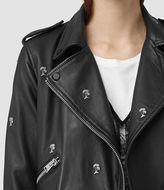 AllSaints Eaves Leather Stud Biker Jacket