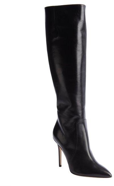 Brian Atwood black calfskin 'Aradia' knee-high boots