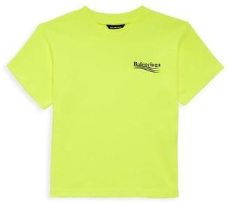 Balenciaga Little Kid's & Kid's Political Logo T-Shirt