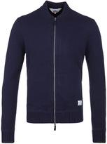 Penfield Eastport Navy Zip Through Lambswool Sweater
