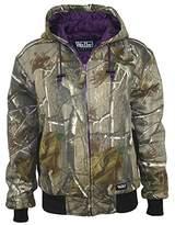Camo Walls Women's Ladies Quilted Fleece Hooded Jacket