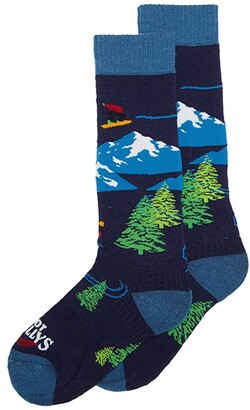 Hot Chillys Kids Freestyle Mid Volume Sock (Toddler/Little Kid/Big Kid) (Freestyle Navy) Kids Shoes