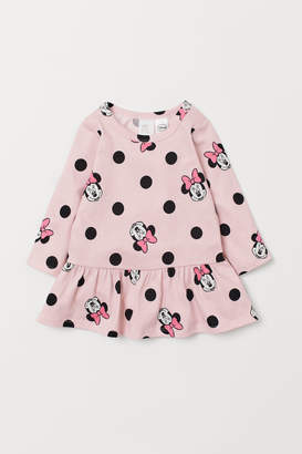 H&M Patterned flounced dress