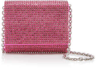 Judith Leiber Couture Micro Fizzy Crystal-Embellished Silk-Satin Shoulder Bag