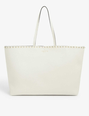 Valentino Rockstud large grain leather shopper bag