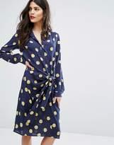 Max & Co. Max&co Dispensa Spot Tie Dress