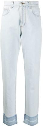 Loewe Straight-Leg Cropped Denim Jeans