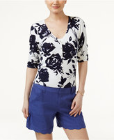 INC International Concepts Petite Floral-Print Cardigan, Only at Macy's
