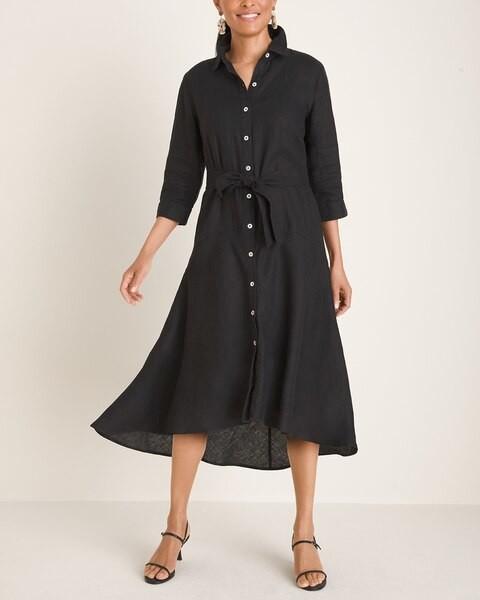 Chico's High-Low Hem Linen Dress