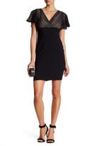 Jessica Simpson V-Neck Lace Knit Short Sleeve Dress