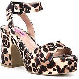 Betsey Johnson Claude Leopard Print Platform Sandals