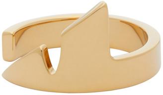 Fendi Gold Corner Bugs Ring