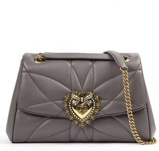 Dolce & Gabbana Grey Leather Shoulder Bag
