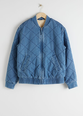 And other stories Padded Organic Cotton Denim Jacket