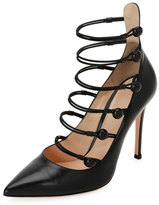 Gianvito Rossi Marquis Strappy Leather 105mm Pump