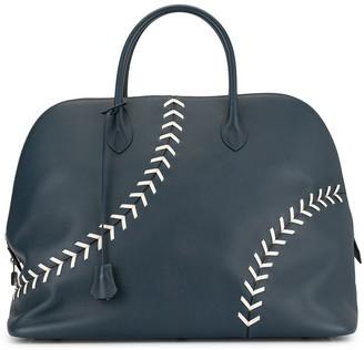 Hermes Pre-Owned baseball detail tote