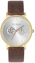 Ted Baker Brit Multifunction Twill-Strap Watch