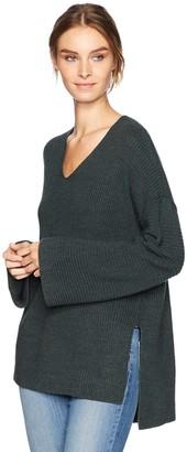 Velvet by Graham & Spencer Women's Stitch Detail Kimono Sleeve Sweater