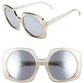 Alice + Olivia Women's Canton 55Mm Retro Sunglasses - Black