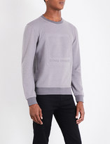 BOSS ORANGE Logo-embossed cotton-jersey sweatshirt