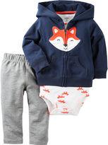 Carter's 3-pc. Fox Cardigan, Bodysuit and Pants Set - Baby Boys newborn-24m