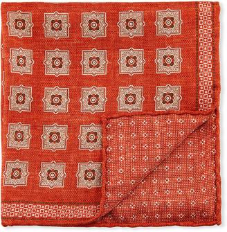 Brunello Cucinelli Large Medallion Pocket Square
